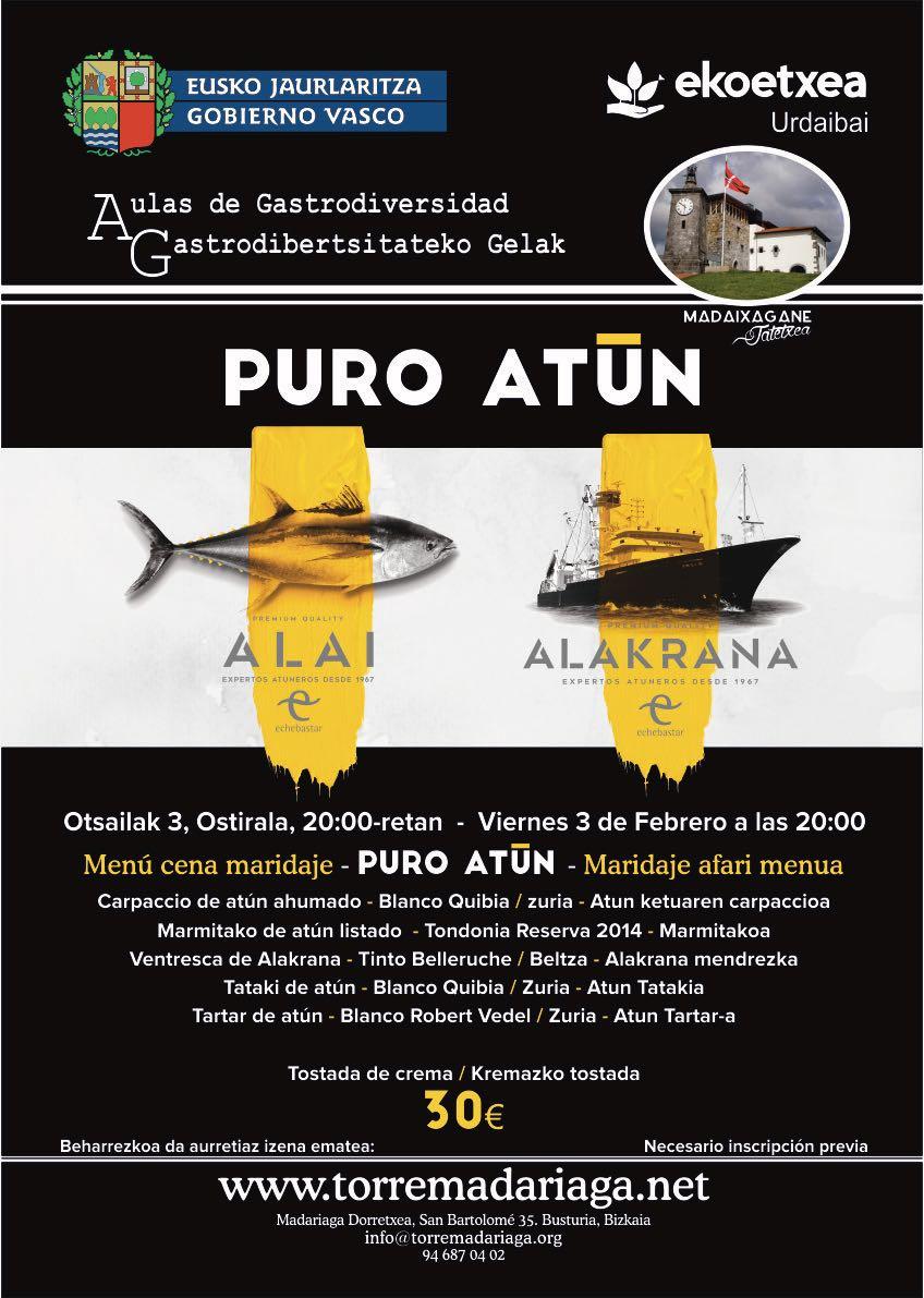 (Español) CENA MARIDAJE/PURO ATUN