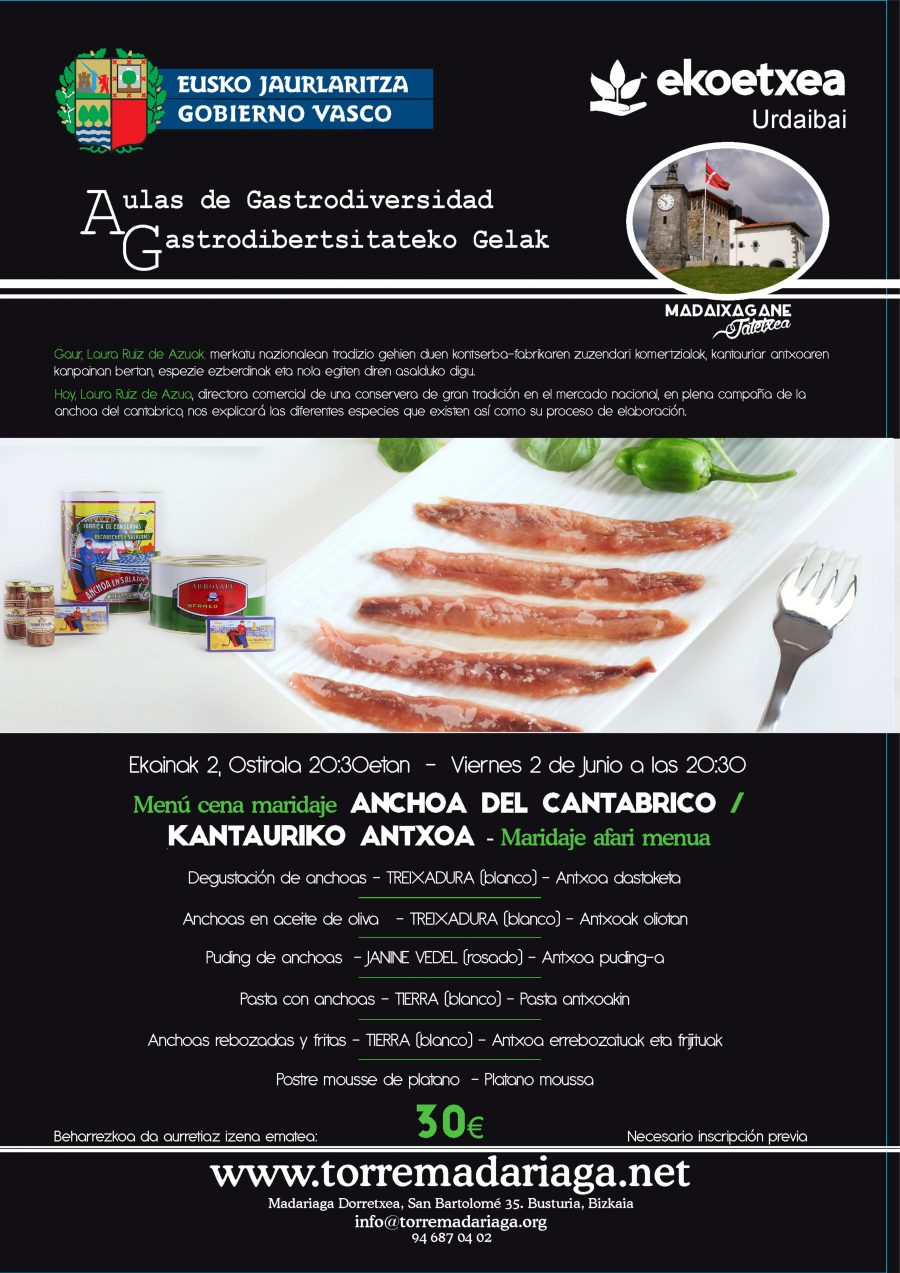 CENA MARIDAJE 2 DE JUNIO (ANCHOAS)